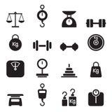 Sistema del icono del peso Foto de archivo