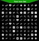 Sistema del icono del pie Imagen de archivo