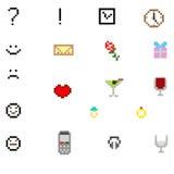 Sistema del icono del pixel  Imagen de archivo libre de regalías
