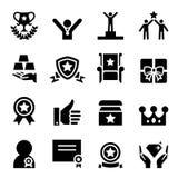 Sistema del icono del premio Imágenes de archivo libres de regalías