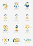 Sistema del icono del premio, colección del logotipo Imagen de archivo libre de regalías