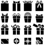 Sistema del icono del regalo fotos de archivo libres de regalías