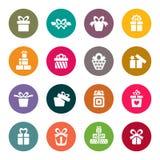 Sistema del icono del regalo Foto de archivo libre de regalías