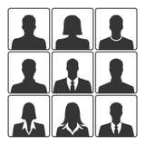 Sistema del icono del retrato Fotos de archivo