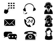 Sistema del icono del servicio de atención al cliente Imagen de archivo