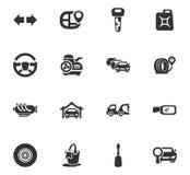 Sistema del icono del servicio del coche Imagen de archivo libre de regalías