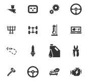 Sistema del icono del servicio del coche Imagen de archivo