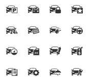 Sistema del icono del servicio del coche Imagenes de archivo