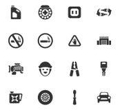 Sistema del icono del servicio del coche Fotografía de archivo
