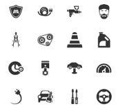 Sistema del icono del servicio del coche Imágenes de archivo libres de regalías