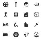 Sistema del icono del servicio del coche Foto de archivo
