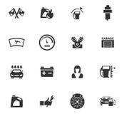 Sistema del icono del servicio del coche Fotos de archivo libres de regalías