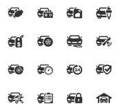Sistema del icono del servicio del coche Fotografía de archivo libre de regalías