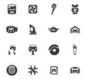 Sistema del icono del servicio del coche Foto de archivo libre de regalías