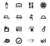 Sistema del icono del servicio del coche Fotos de archivo
