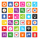 Sistema del icono del sitio web y de Internet Foto de archivo