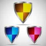 Sistema del icono del símbolo del escudo de la seguridad Imagenes de archivo