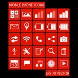 Sistema del icono del teléfono móvil Imagen de archivo libre de regalías