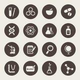 Sistema del icono del tema de la ciencia Fotos de archivo