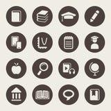 Sistema del icono del tema de la educación ilustración del vector