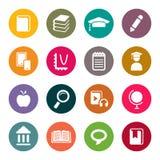 Sistema del icono del tema de la educación Fotos de archivo
