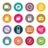Sistema del icono del tema de las compras Foto de archivo