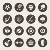 Sistema del icono del tema de los deportes Fotos de archivo libres de regalías