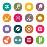 Sistema del icono del tema de los deportes Fotografía de archivo libre de regalías