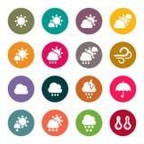 Sistema del icono del tiempo Fotos de archivo libres de regalías