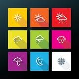 Sistema del icono del tiempo stock de ilustración