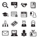 Sistema del icono del trabajo Fotos de archivo libres de regalías
