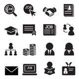Sistema del icono del trabajo Imágenes de archivo libres de regalías
