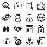Sistema del icono del trabajo Imagen de archivo