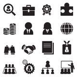 Sistema del icono del trabajo de la silueta Imagenes de archivo