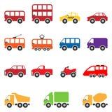 Sistema del icono del transporte Fotografía de archivo libre de regalías