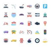 Sistema del icono del transporte Imagen de archivo libre de regalías