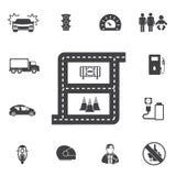 Sistema del icono del transporte Fotos de archivo libres de regalías