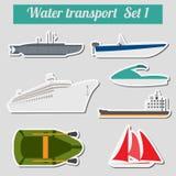 Sistema del icono del transporte del agua para crear su propio infographics ilustración del vector