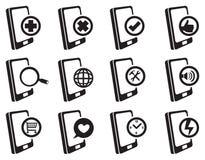 Sistema del icono del vector de Internet del teléfono móvil Imagen de archivo