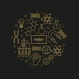 Sistema del icono del vector de la ciencia Imagen de archivo libre de regalías