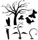 Sistema del icono del vector de la naturaleza Imágenes de archivo libres de regalías