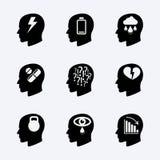Sistema del icono del vector de la tensión y de la depresión Fotografía de archivo