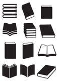 Sistema del icono del vector de los libros Imagen de archivo libre de regalías