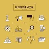 Sistema del icono del vector del negocio ilustración del vector