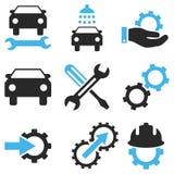 Sistema del icono del vector del servicio del coche Fotos de archivo