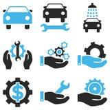 Sistema del icono del vector del servicio del coche Fotografía de archivo