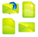 Sistema del icono del vector del sitio web Imágenes de archivo libres de regalías
