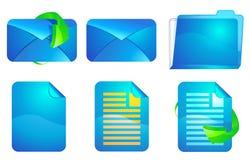 Sistema del icono del vector del sitio web Imagenes de archivo