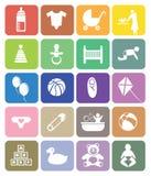 Sistema del icono del vector del tema del bebé libre illustration