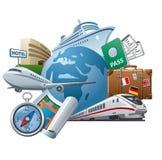 Sistema del icono del viaje libre illustration